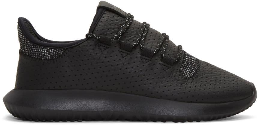 Adidas Originals ブラック チューブラー シャドー スニーカー