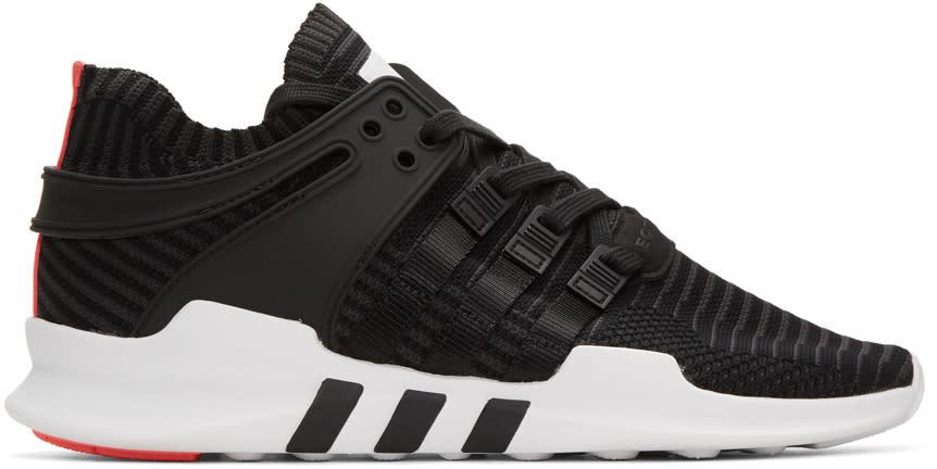 Image of Adidas Originals Black Equipment Support Adv Sneakers