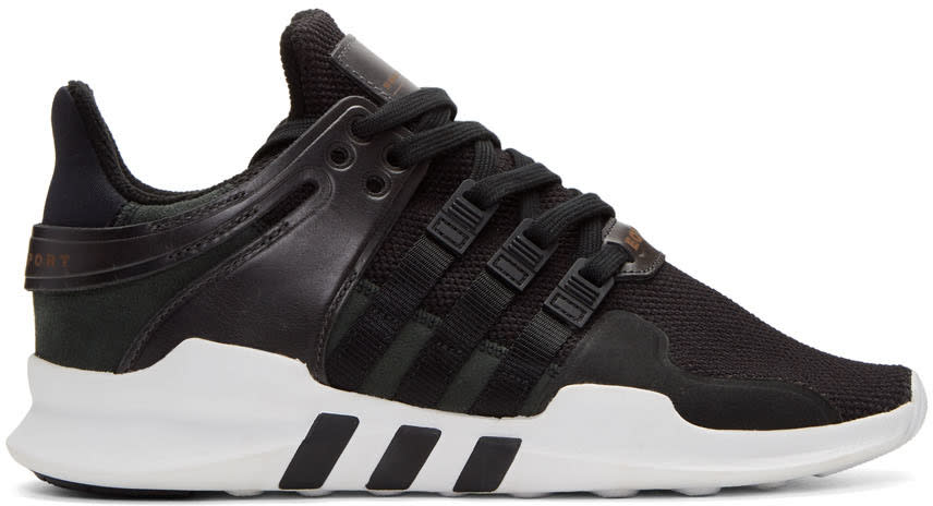 Adidas Originals Black Equipment Support Adv Sneakers