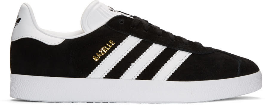 Adidas Originals Black Suede Gazelle Sneakers