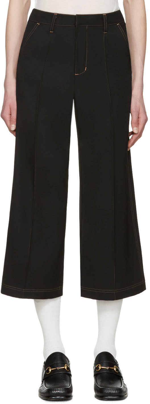 Image of Wales Bonner Black Reed Culottes