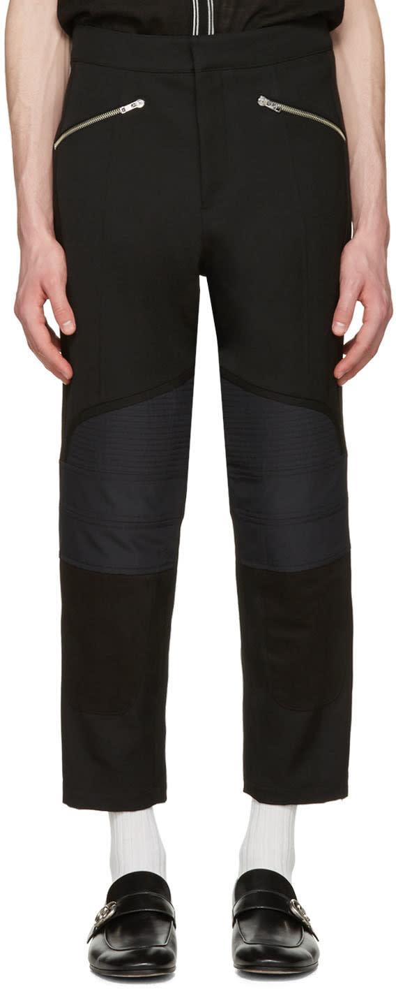 Wales Bonner Black Georges Biker Trousers