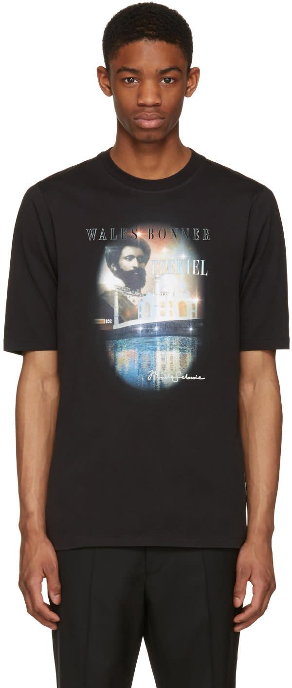 Wales Bonner Black Haile Selassie T-shirt