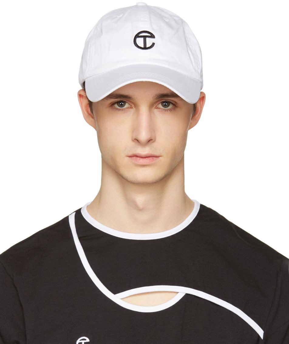 Telfar White Logo Cap