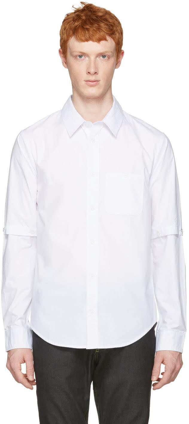 Telfar White Detachable Sleeves Shirt