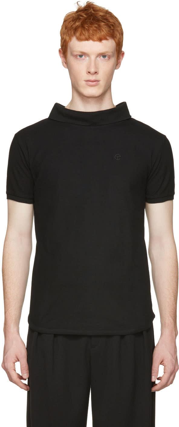 Telfar Black Backwards Polo