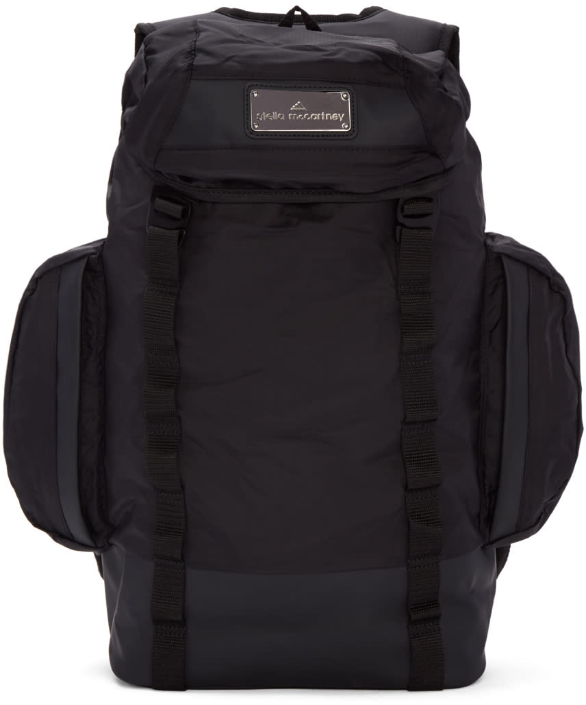Image of Adidas By Stella Mccartney Black Multi-pocket Athletic Backpack