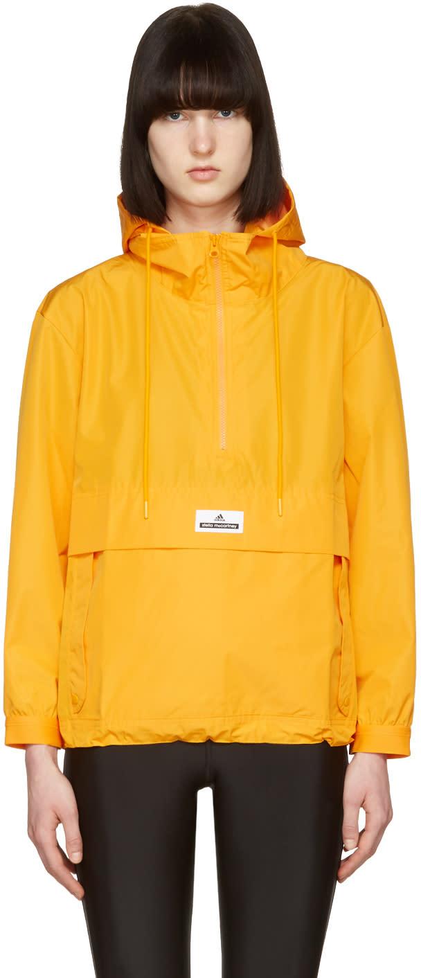 Adidas By Stella Mccartney Yellow Pull-on Windbreaker Jacket