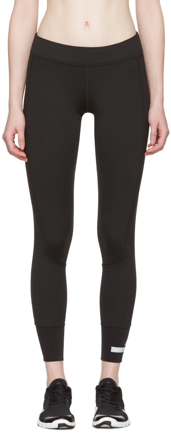Image of Adidas By Stella Mccartney Black 7-8 Leggings