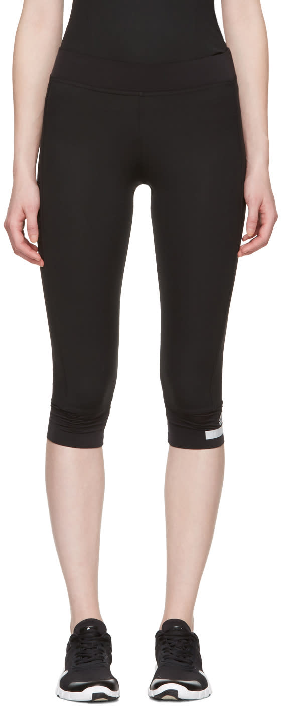 Image of Adidas By Stella Mccartney Black 3-4 Leggings