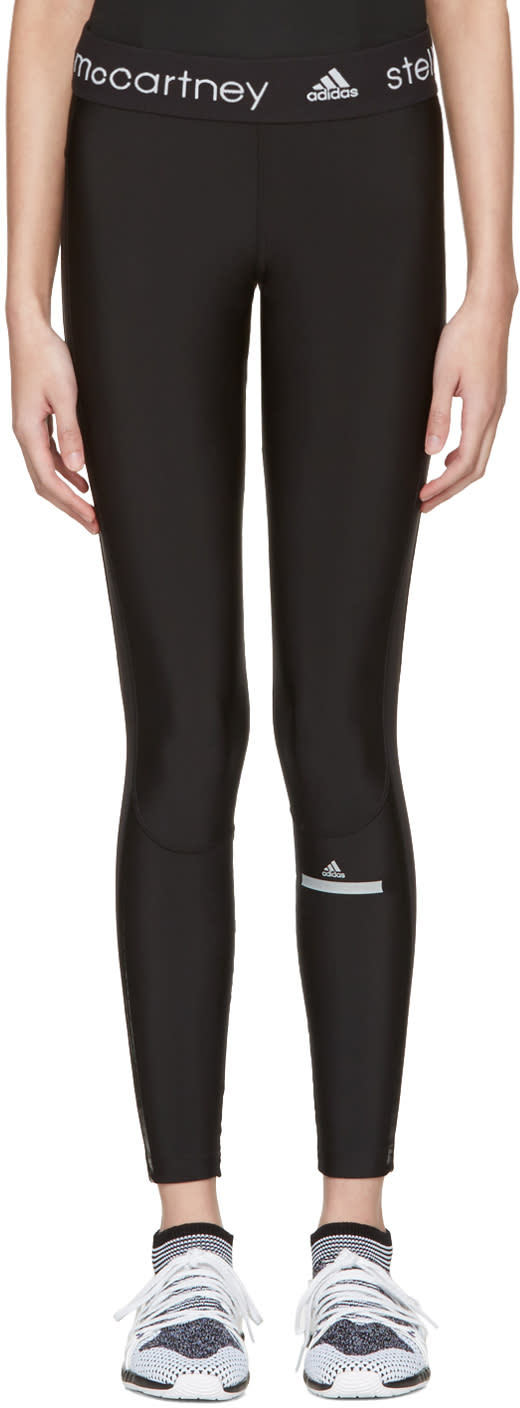 Image of Adidas By Stella Mccartney Black Long Run Leggings