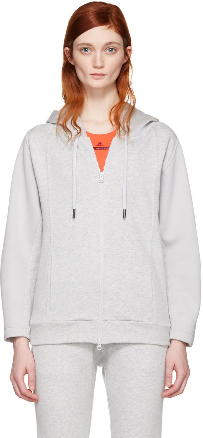 Adidas By Stella Mccartney Grey Ess Zip-up Hoodie