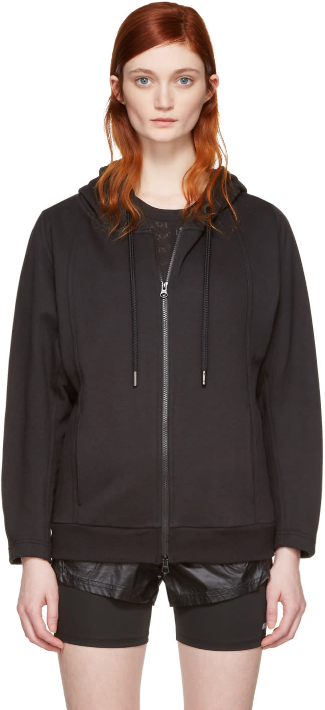 Image of Adidas By Stella Mccartney Black Ess Zip-up Hoodie
