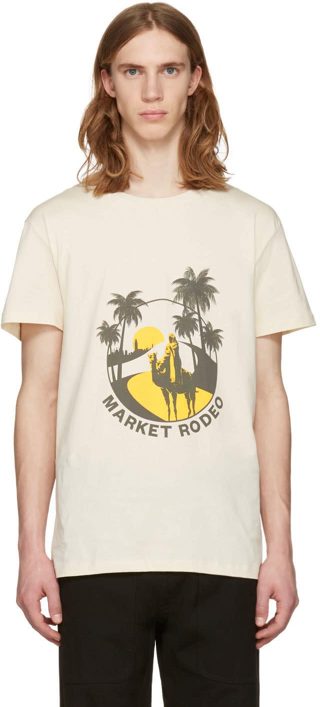 Cmmn Swdn Beige Boyd Print T-shirt