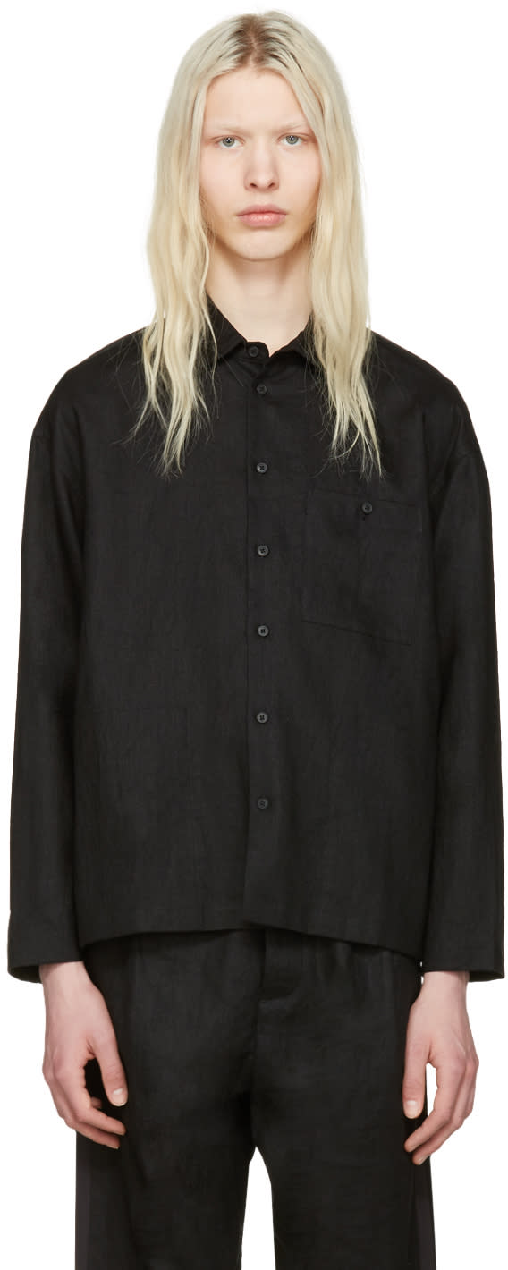 Fanmail Black Collared Shirt