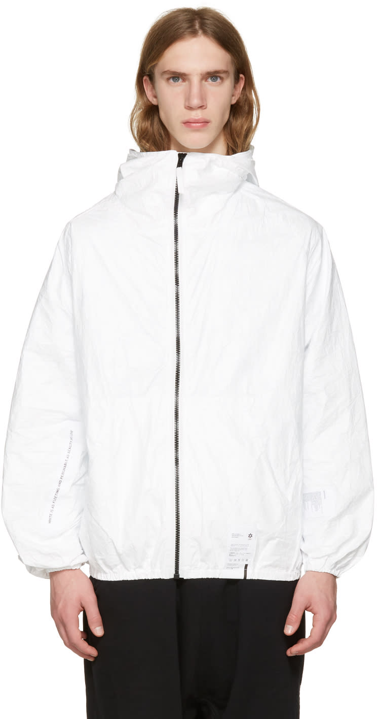 Ueg White Tyvek Hooded Jacket