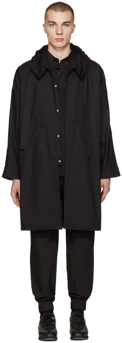 Phoebe English Black Hooded Trench Coat
