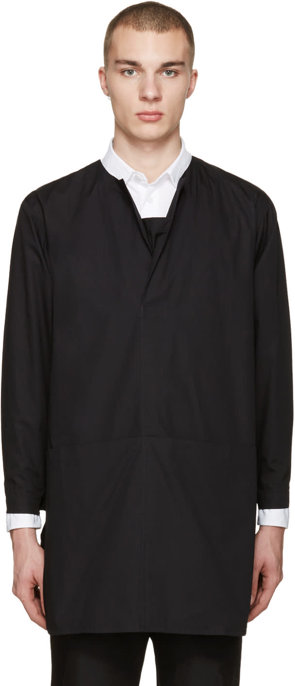 Phoebe English Black Long Poplin Shirt