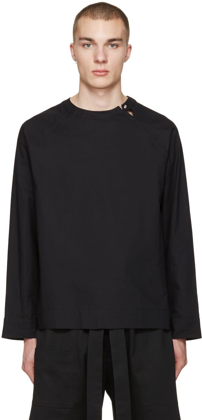 Phoebe English Black Split Neck Shirt