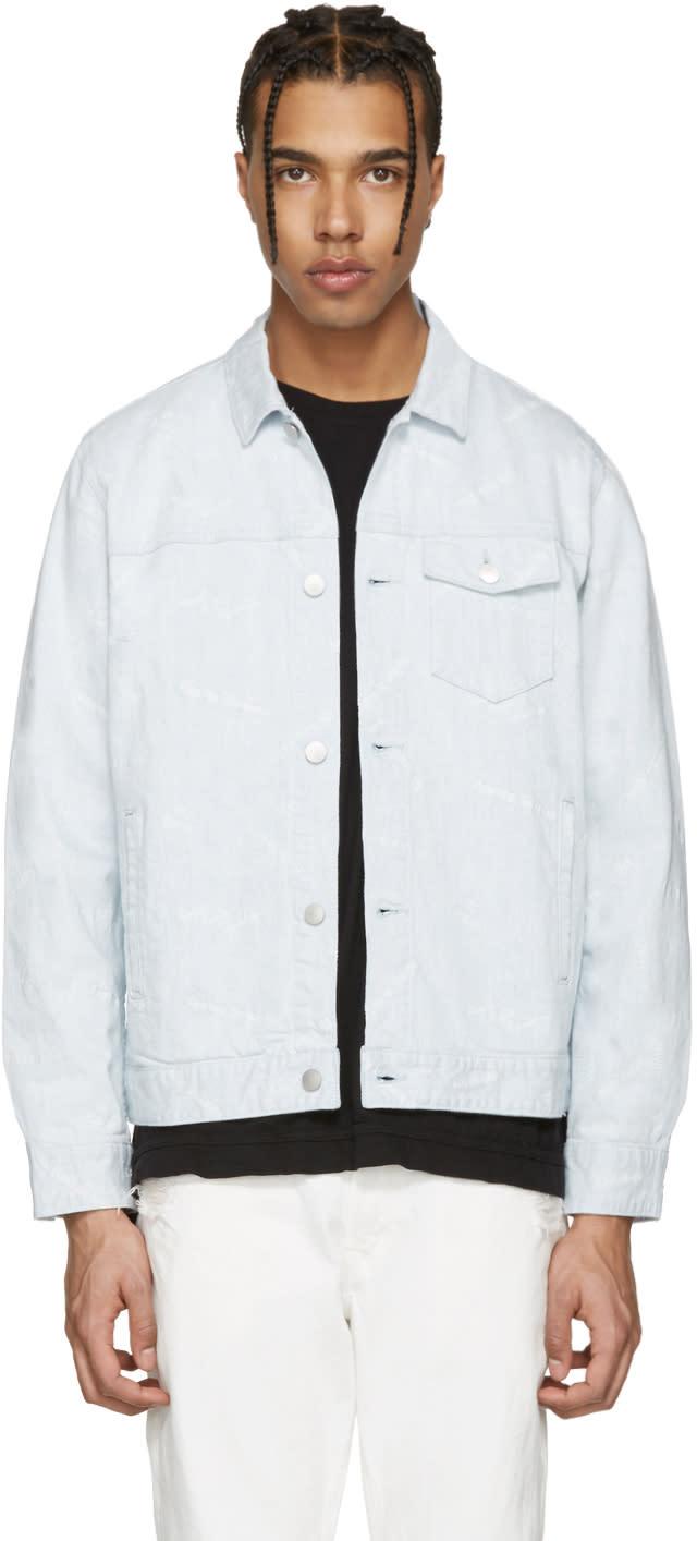 John Elliott Blue Denim Yacht Club Thumper Jacket