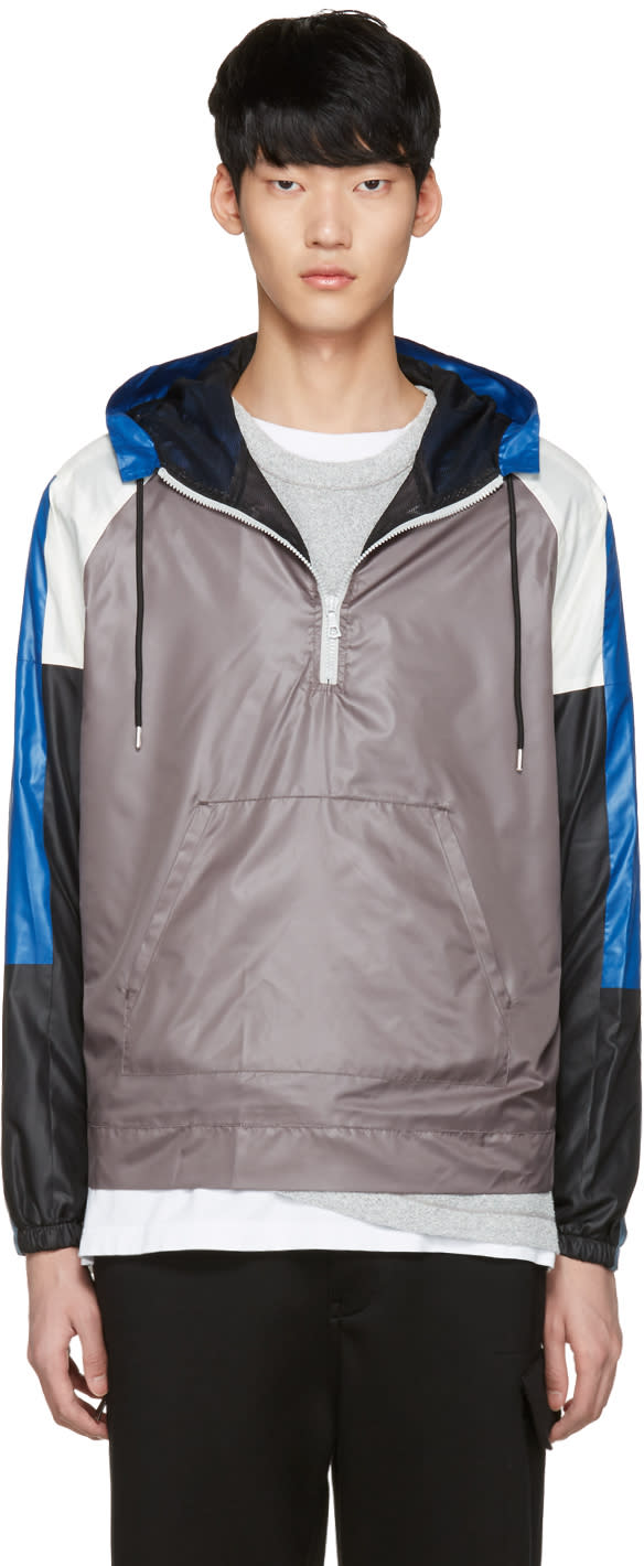 John Elliott Grey Sail Windbreaker Jacket