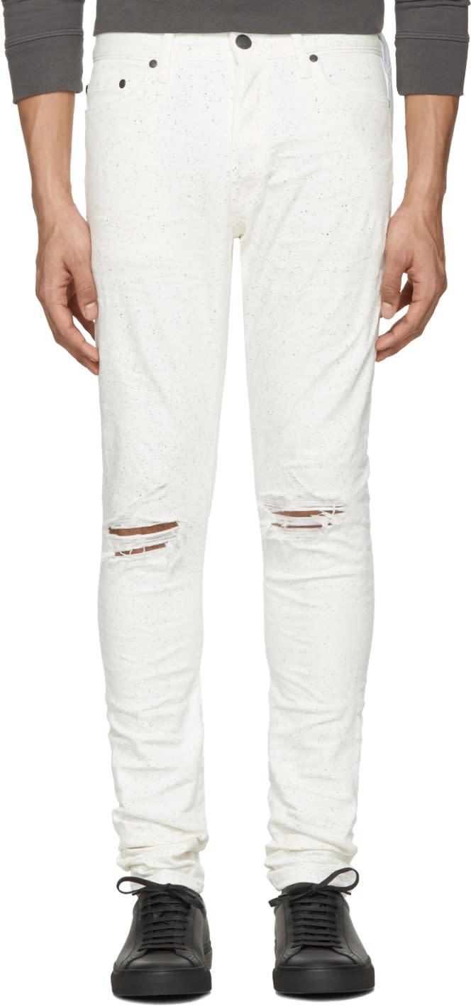 John Elliott White The Cast 2 Paint Splatter Jeans