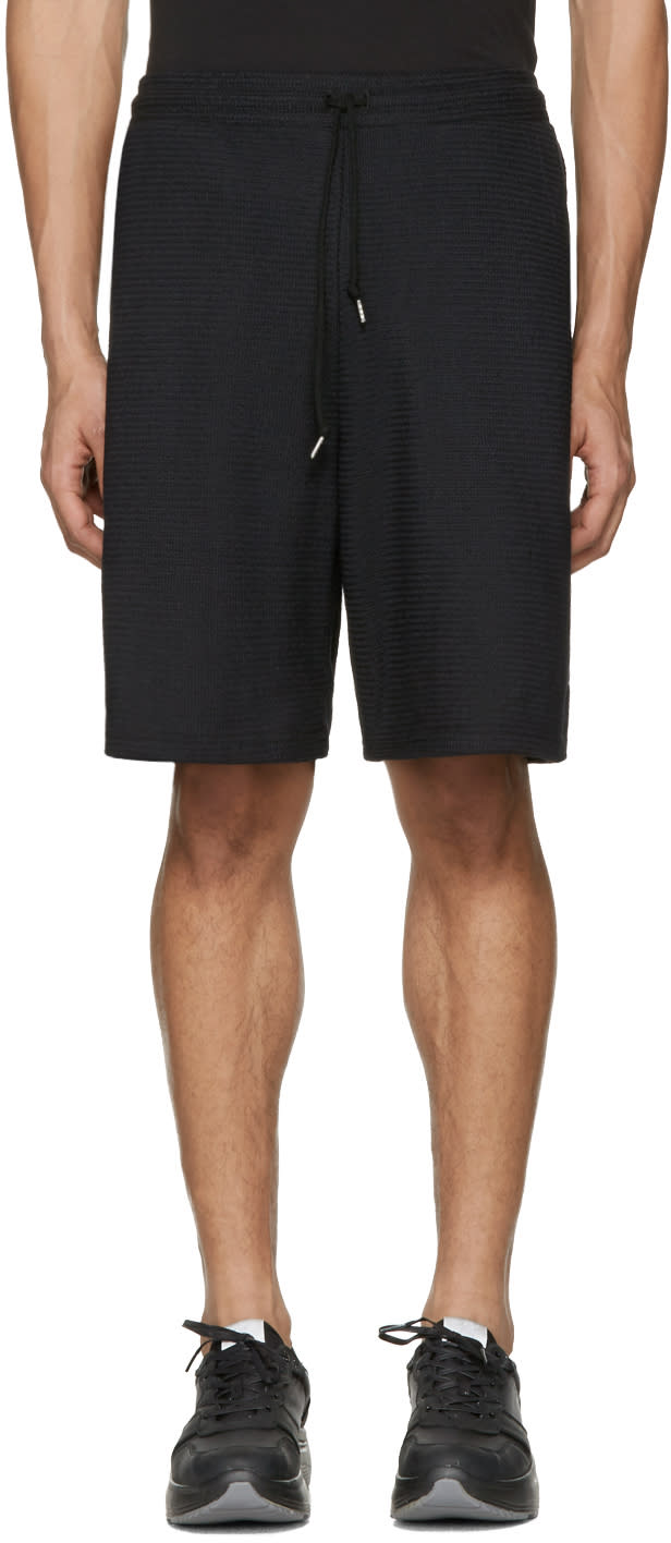 John Elliott Black Raschel Shorts