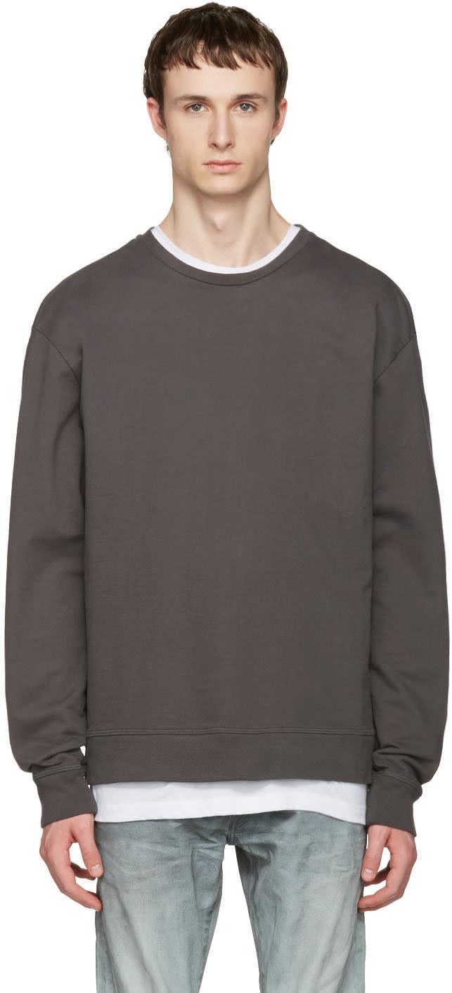 John Elliott Grey Oversized Pullover