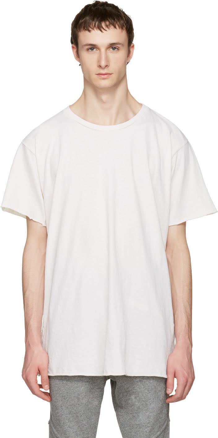 John Elliott Ivory Anti-expo T-shirt