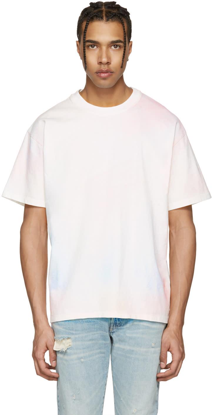John Elliott Multicolor Oversized Cropped Tie-dye T-shirt