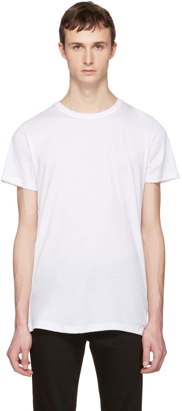 John Elliott White Crew T-shirt