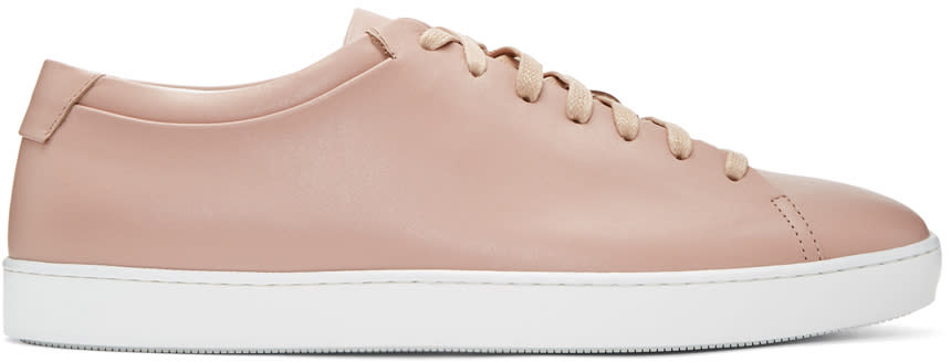 John Elliott Pink Leather Low Sneakers