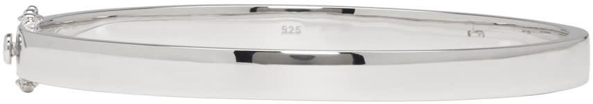Tom Wood Silver Slim Lock Bracelet