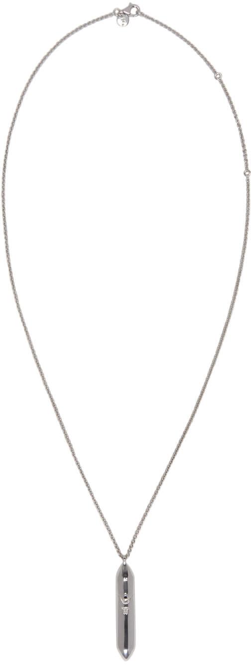 Tom Wood Silver Large Bullet Necklace