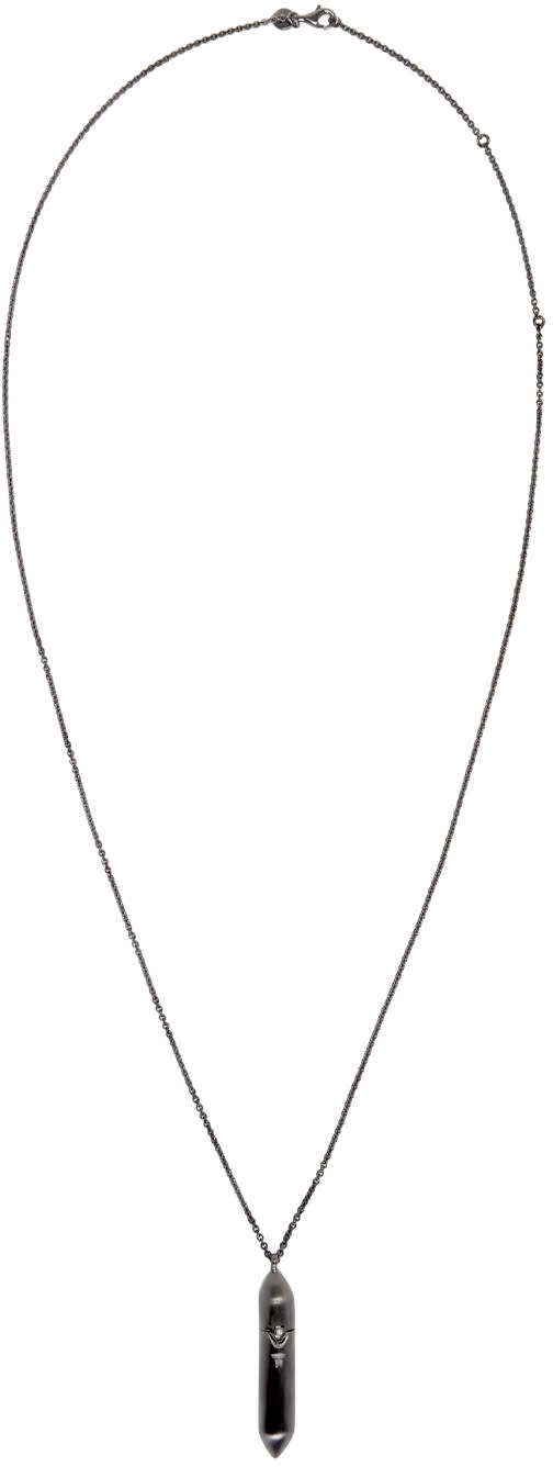 Tom Wood Gunmetal Large Bullet Necklace