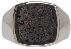 Tom Wood Silver Cushion Lava Ring