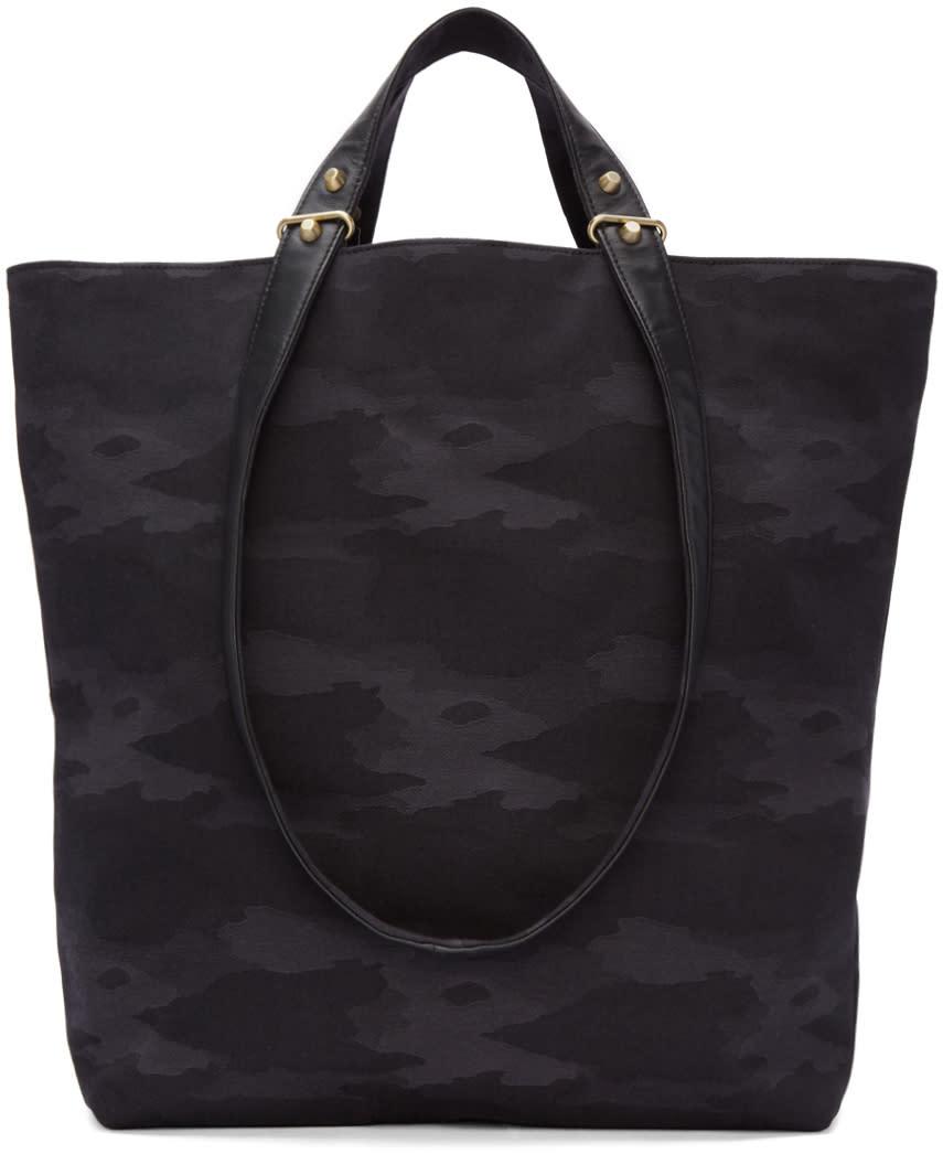 Haerfest Black Jacquard Camouflage H6 Tote Bag
