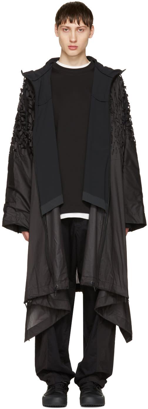 Y-3 Sport Black Track Poncho Coat