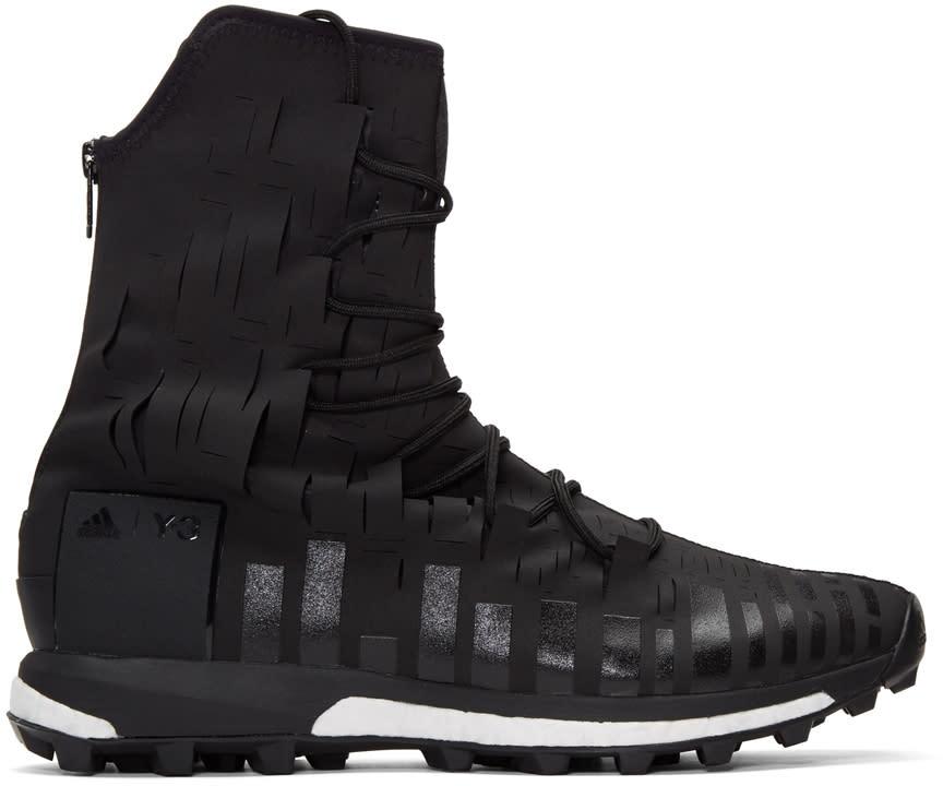 Y-3 Sport Black Evasion High-top Sneakers