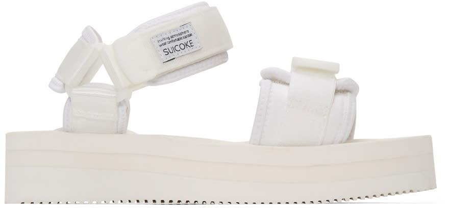 Suicoke White Cel-vpo Flatform Sandals