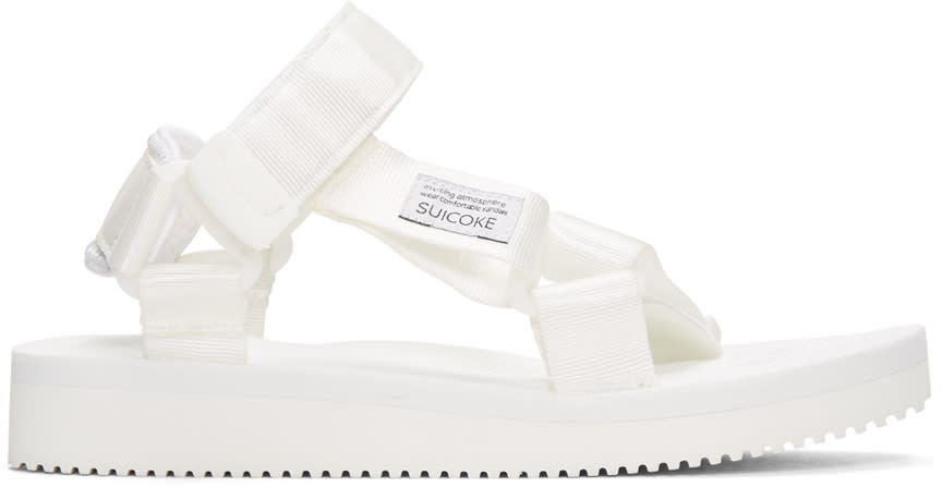 Suicoke White Depa Classic Sandals
