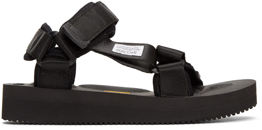 Image of Suicoke Black Depa-v Sandals