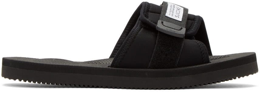 Suicoke Black Padri Slide Sandals