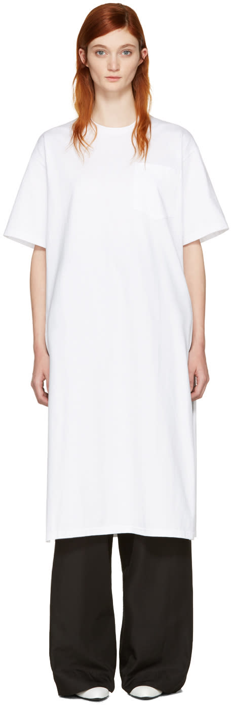 Hyke White Pocket T-shirt Dress