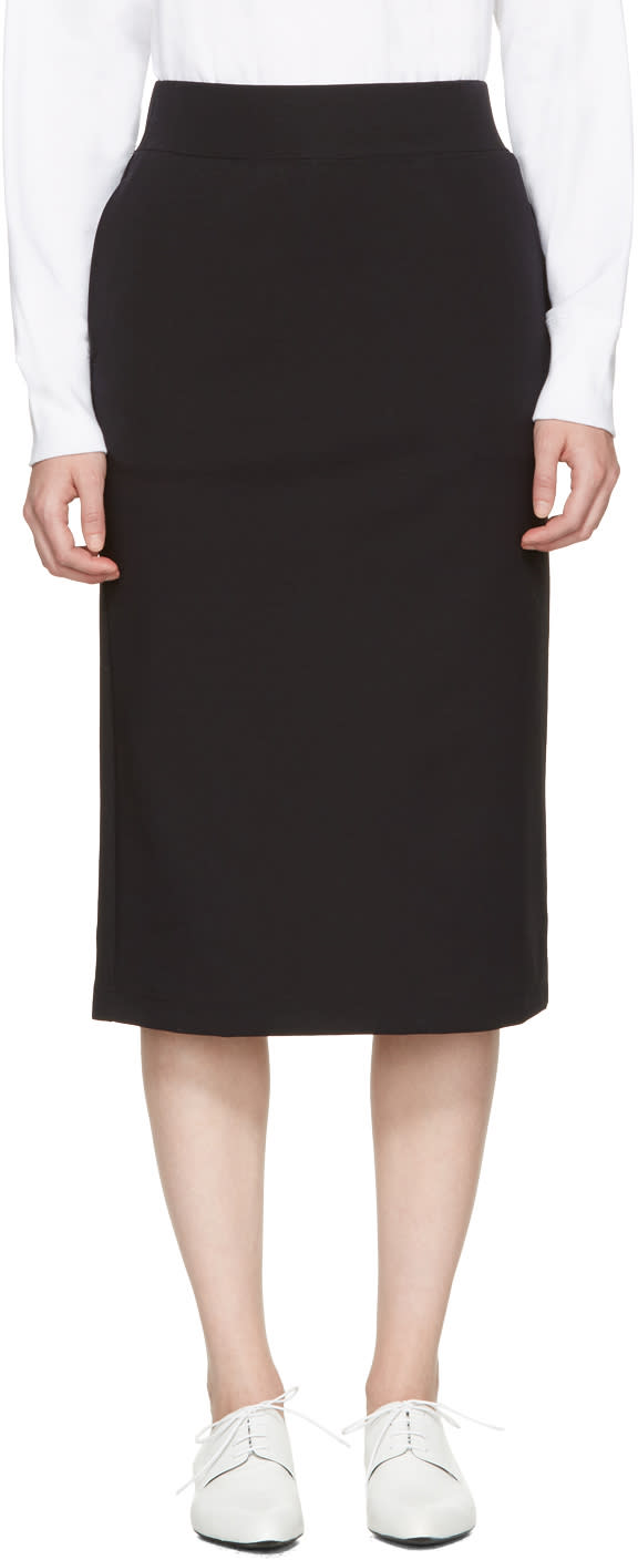 Hyke Black Pencil Skirt