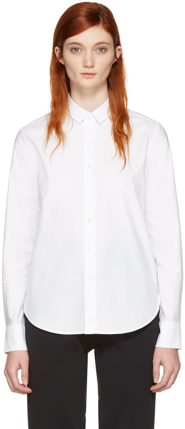 Hyke White Poplin Shirt
