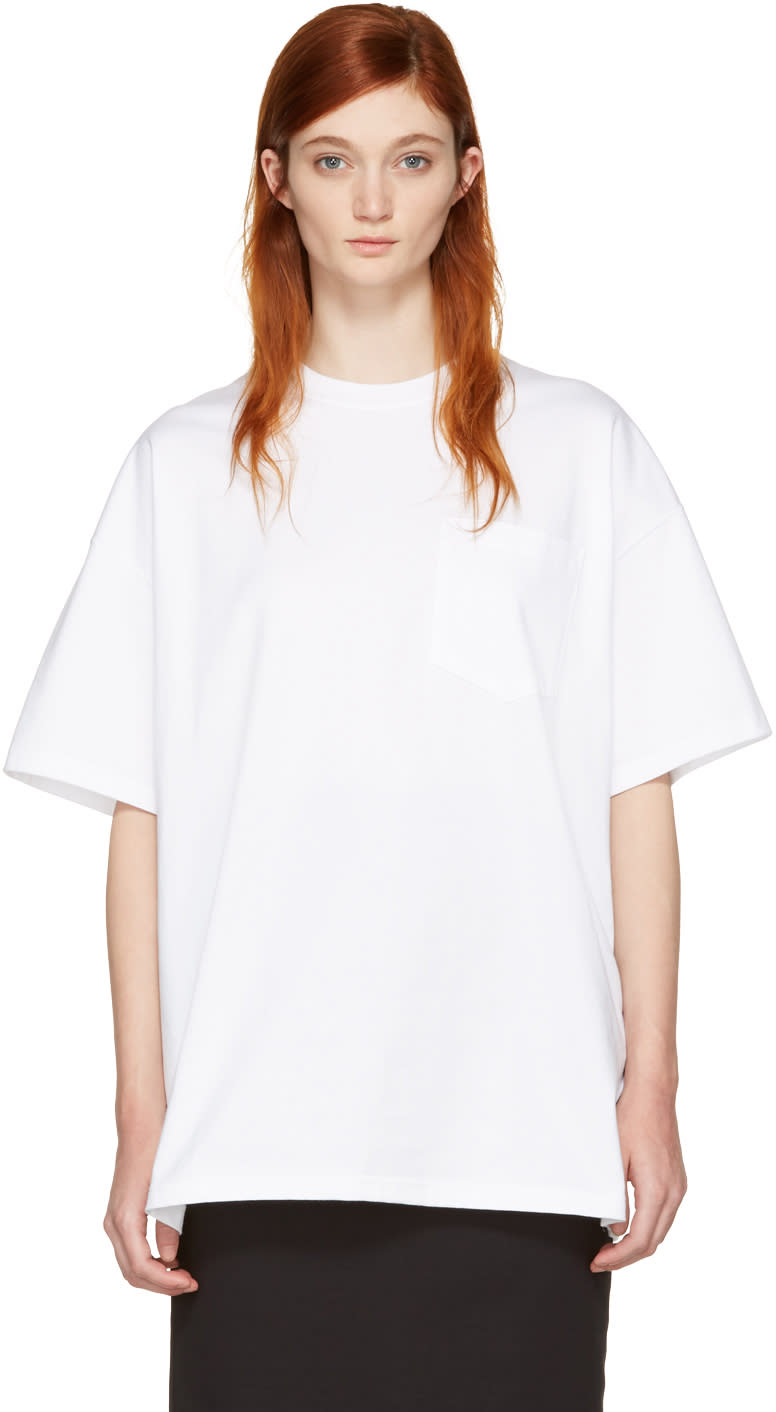 Hyke White Big T-shirt