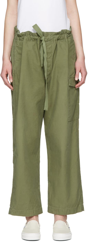 Chimala Green Drawstring Cargo Pants