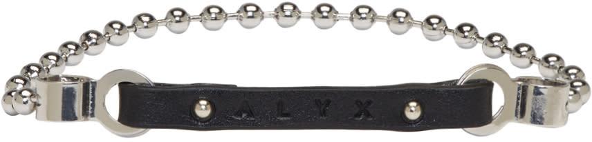 Image of Alyx Black Ball Chain Logo Bracelet