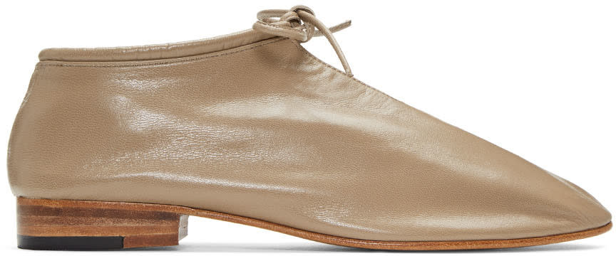 Martiniano Taupe Bootie Oxfords